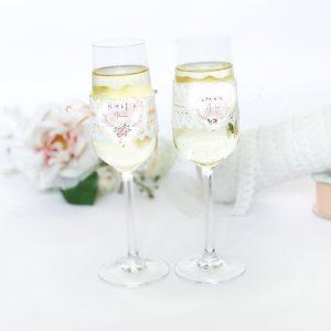 Set 2 pahare personalizate Miri sau Nasi - Love Confession